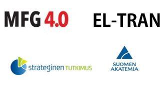 logot MFG4.0, El-Tran, Strateginen tutkimus ja Suomen Akatemia